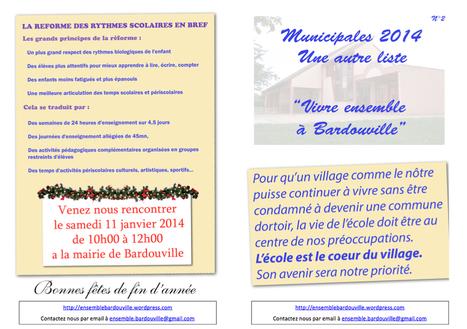 Flyer n°2 : Notre programme pour l'école ! | Vivre Ensemble à Bardouville | Ouï dire | Scoop.it