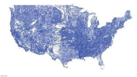 Stunning map charts every river in U.S. | Todays News, Tomorrows History | Scoop.it