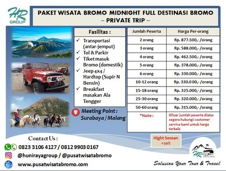 Bromo Midnight Tour Dari Surabaya In Wisata Bromo