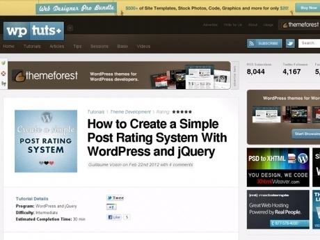 Créer un simple système de vote avec WordPress et jQuery ...   Webdesign Freebies   Scoop.it