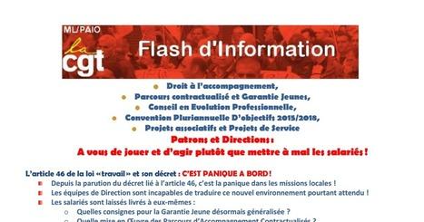 Flash Info - Patrons, Directions, A vous de jouer ! 9 janvier 2017. PACEA, CPO, Garantie Jeunes et projets associatifs | Culture Mission Locale | Scoop.it