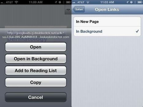 Open Links In The Background Using Mobile Safari [iOS Tips] | Cult of Mac | How to Use an iPhone Well | Scoop.it