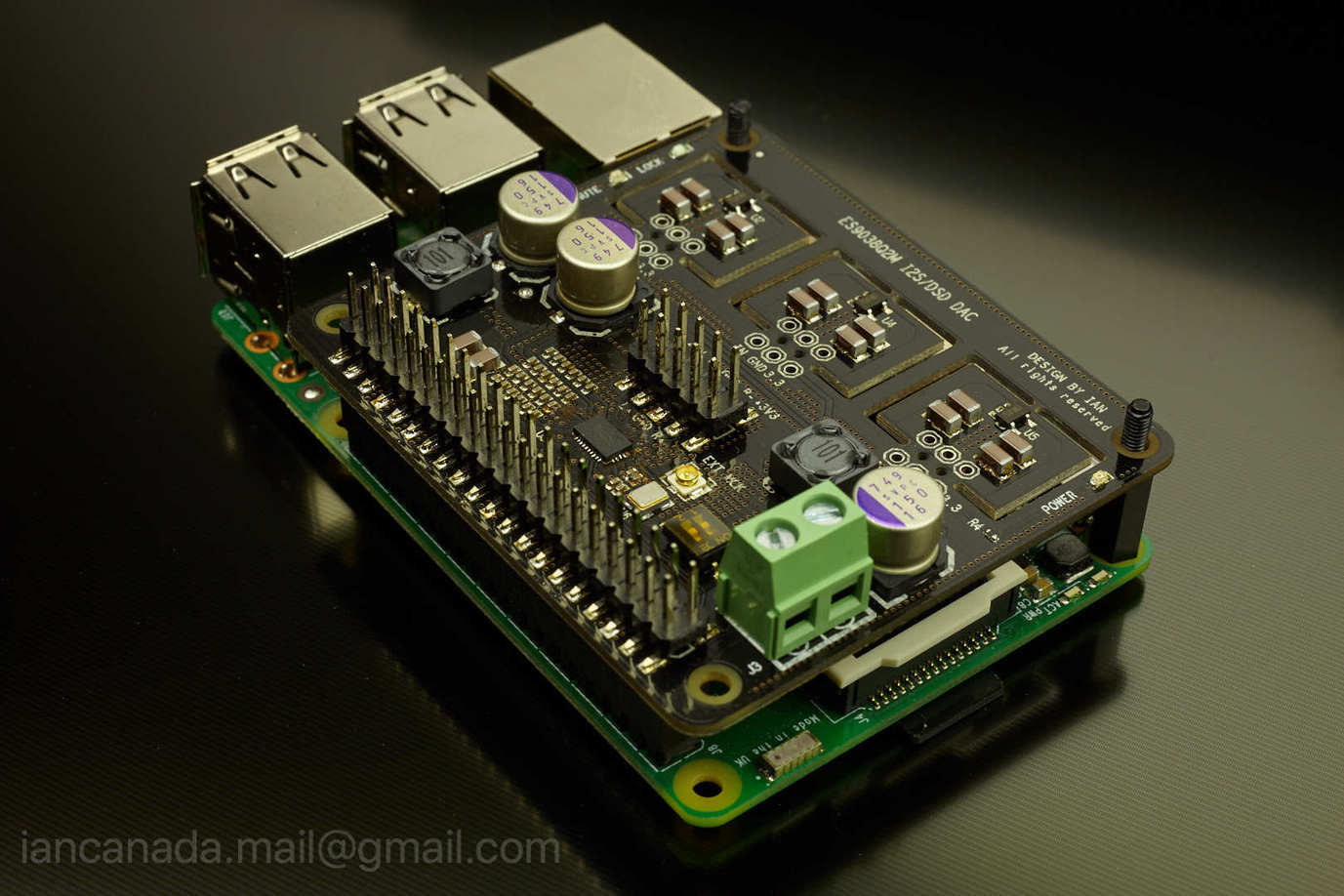 ES9018K2M, ES9028Q2M, 9038Q2M DSD/I2S DAC HATs