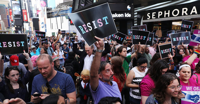 Furious Gay Rights Advocates See Trump's 'True Colors'