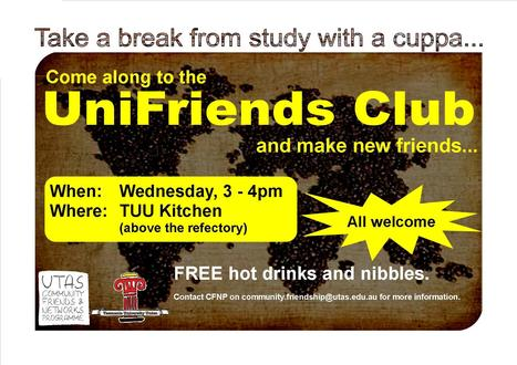 UniFriends Club Session this Wednesday, 16 October 2013 | CFNP South | Scoop.it