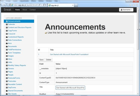 SharePoint 2010 as a Single Page Application   JavaScript for Line of Business Applications   Scoop.it