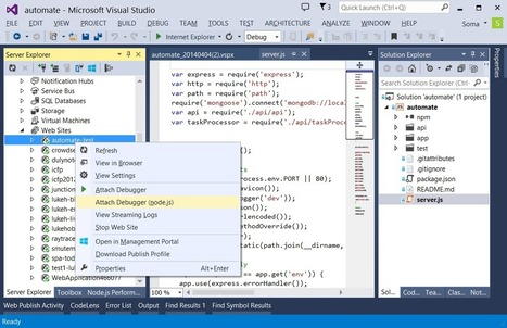 Node.js Tools for Visual Studio 1.0 Beta - Somasegar's blog - Site Home - MSDN Blogs | Development on Various Platforms | Scoop.it