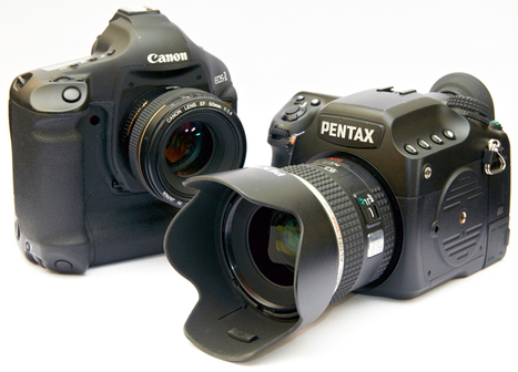 """Pentax 645D Canon EOS 1Ds Mark III Comparison Digital SLR Review 