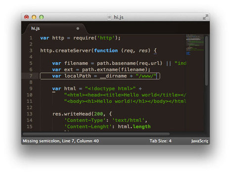 Code linting for JS, CoffeeScript & CSS with Sublime | omarrr | Web Apps | Scoop.it