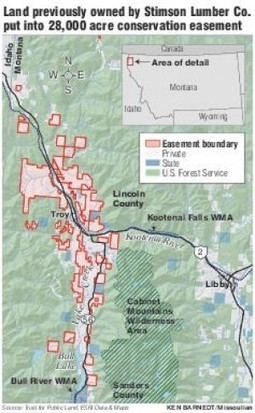 Stimson sells 28K acres in Kootenai River valley into conservation easement | Timberland Investment | Scoop.it