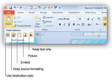 Opciones de Copiar y Pegar en PowerPoint 2010 - Plantillas Power Point | Presentaciones PowerPoint | Scoop.it