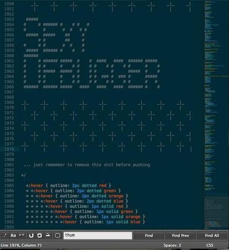 Twitter / michellelaralin: Now decorating my CSS with ...   ASCII Art   Scoop.it