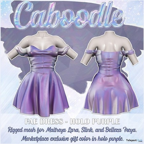 5d81072708 Fae Dress Holo Purple 1L Promo Gift by Caboodle