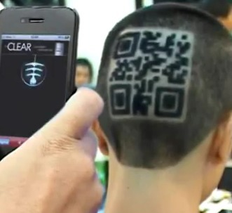 Crazy company launch branding using QR cut haircuts to market their product | QRiousCODE | Scoop.it