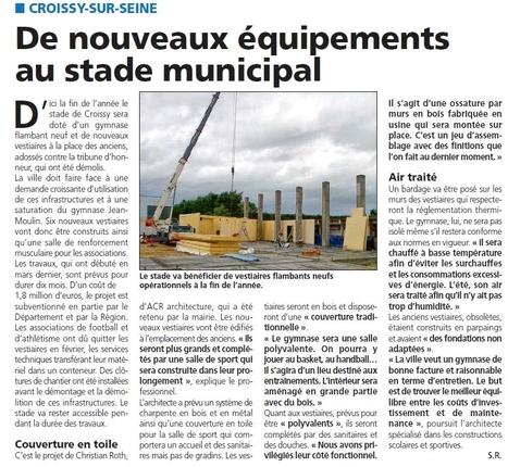Le nouveau gymnase sort de terre | Croissy sur Seine | Scoop.it