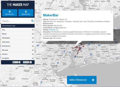 «The Maker Map» : LA carte du mouvement maker ! | Graphisme & interactivité blog par Geoffrey Dorne | Technologies et usages | Scoop.it