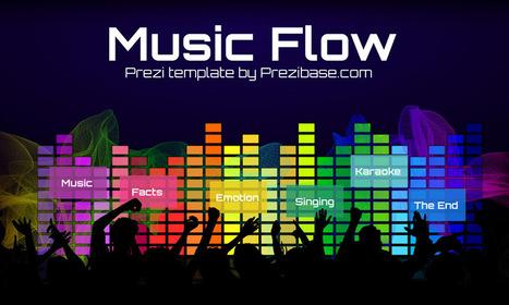 Music Flow Prezi Template | Prezibase | Prezi T...