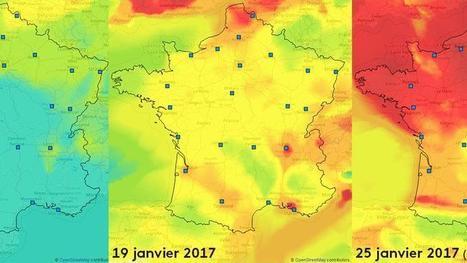 CARTE. Pic de pollution: regardez le nuage de particules fines envahir la France | Planete DDurable | Scoop.it