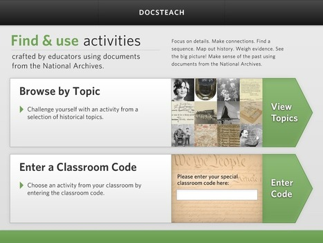 The New DocsTeach App for iPad! | Library Media | Scoop.it