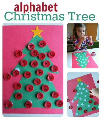 Alphabet Activity - Christmas Tree Alphabet | Literacia no Jardim de Infância | Scoop.it
