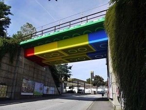 A German Bridge Built of Legos? Street Art from Megx | Art Resources | Scoop.it