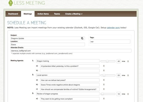Run More Efficient Meetings: 15 Tools for Shared Agendas, Minutes, and Scheduling | Focus on Green Meetings & Digital Innovation | Scoop.it