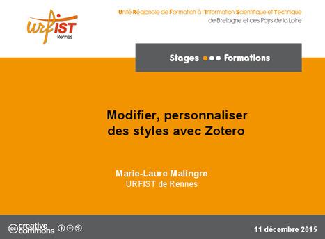 Modifier, personnaliser des styles avec Zotero | pédagogie et éducation | Scoop.it