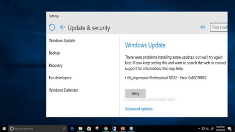 HOW TO FIX WINDOWS UPDATE ERROR 0X80070057 | Da