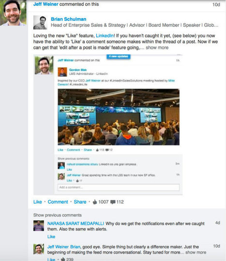 LinkedIn CEO Jeff Weiner Shares 4 Tips for Engaging on Social Media | All About LinkedIn | Scoop.it