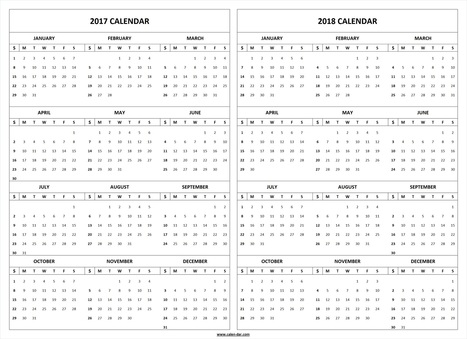 Printable 2017 2018 2019 Calendar Template 3