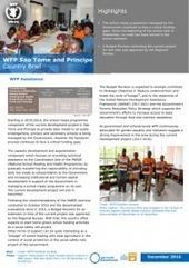 WFP Sao Tome and Principe Country Brief, December 2016   São Tomé e Príncipe   Scoop.it