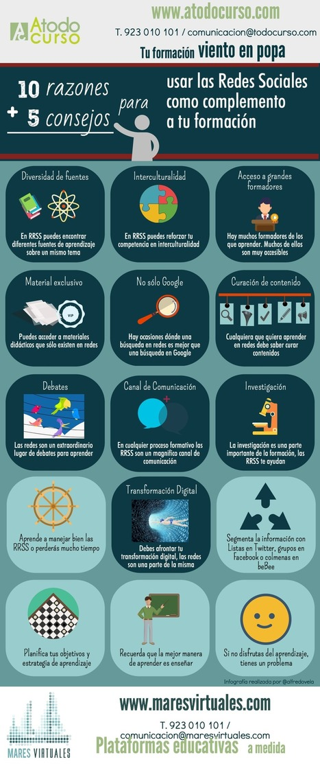 10 razones + 5 consejos para usar Redes Sociales en tu formación #education #socialmedia   Aprendiendoaenseñar   Scoop.it