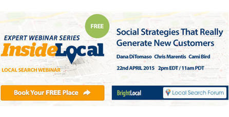 Local Search Webinar: Social Strategies that Really Generate New Customers | Google+ Local & Local SEO News | Scoop.it