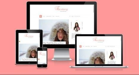 Ecstacy Blogger Template by Yo..! Templates on CreativeWork247 – Fonts… | Blogger themes | Scoop.it
