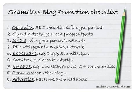 How To Promote A Blog Post: Shameless Blog Promotion 2013 | Content Marketing for Small & Medium sized businesses | Scoop.it