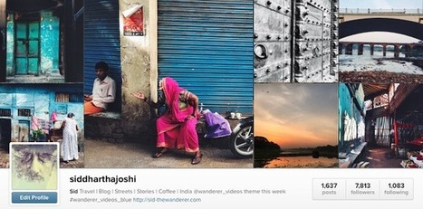Top Instagram Account to Follow in India @siddharthajoshi | The Wanderer - A Travel and Living blog from India | PHOTOS ON THE GO | Scoop.it