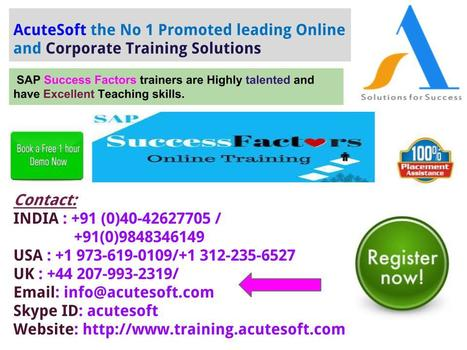 Online SAP Success Factors Training' in Online Training and