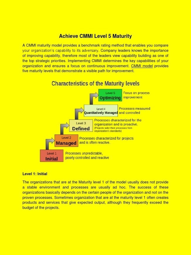 what is sei cmm level 5 company
