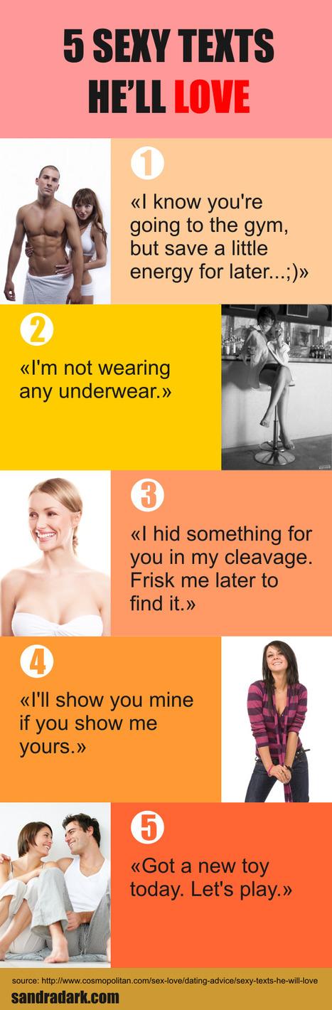 5 Sexy Texts He'll Love | Sandra Dark | Look Great Naked... | Scoop.it