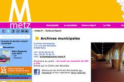 GénéInfos: La ville de Metz va lancer son portail d'archives courant 2013 | En remontant le temps | Scoop.it
