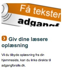 Få teksten læst op - adgangforalle.dk læser din tekst højt | Blogging i skolen | Scoop.it