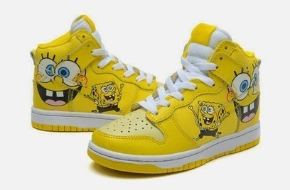 28c1b896f0c5 High Tops Cartoon Dunks  2015 New Nike SB Dunk Spongebob Sneakers Yellow  High Tops Cartoon