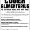 UDPATE: Codex Alimentarius Meeting 2012