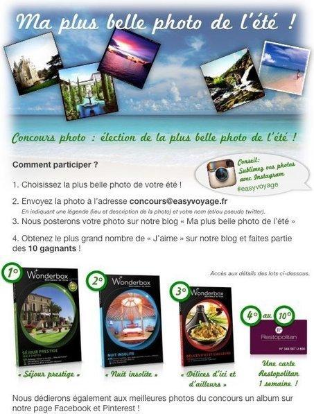 Jeux concours photo de l'été | Via Facebook de Easyvoyage | e-tourisme & voyage(s) sur mesure(s) | Scoop.it