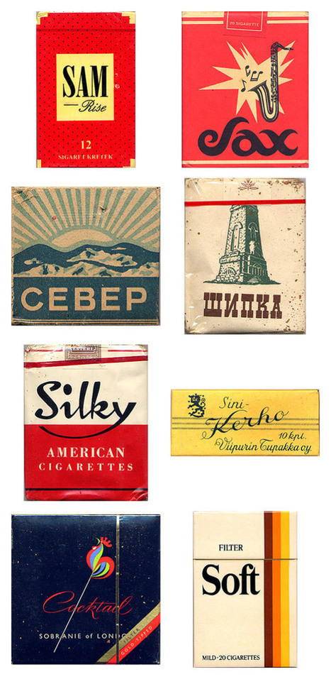 Amazing vintage cigarette pack designs from around the world | #Design | Scoop.it