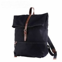 Black top roll canvas backpacks with leahter buckle - $78.60 : Notlie handbags, Original design messenger bags and backpack etc | Womens fashion | Scoop.it