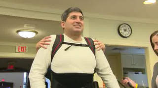Exoskeleton gives man chance to walk again   WTNH.com Connecticut   Exoskeleton Systems   Scoop.it