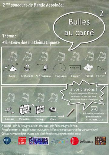 Deuxième concours « bulles au carré » - Images des mathématiques | Mathoscoopie | Scoop.it