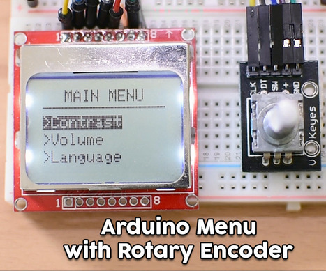 Arduino Menu on a Nokia 5110 Lcd Using a Rotary