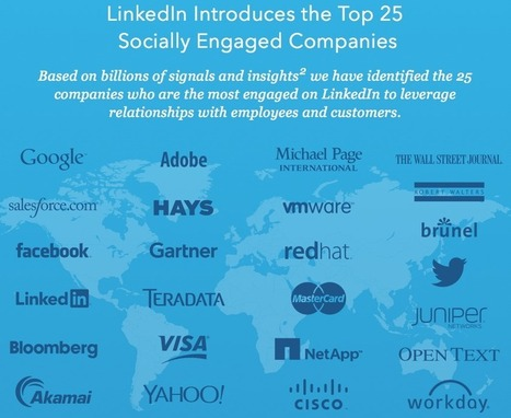 The Top 25 Socially Engaged Companies on LinkedIn Invest in Employee and Customer Relationships - Brian Solis | Compliance | Scoop.it